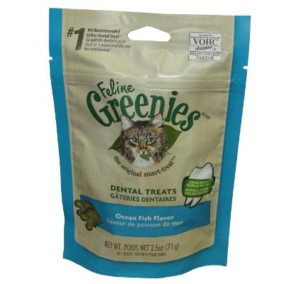 Greenies Feline Ocean Fish 2.5 oz For Cats