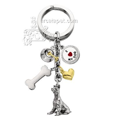 Key Chain Doberman with 5 Charms