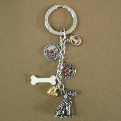 Key Chain Rottweiler with 5 Charms