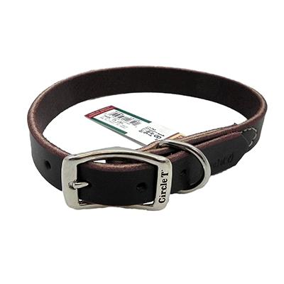 Circle T Latigo Single Layer Leather Dog Collar 18 inch