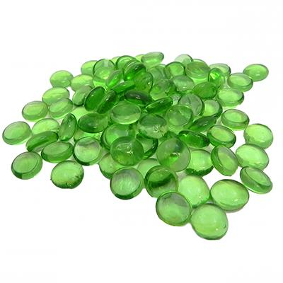 Gem Stones Flat Marbles Green Aquarium Decoration