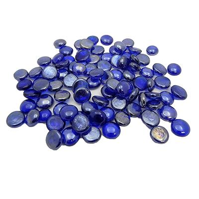Gem Stones Flat Marbles Pearl Blue Aquarium Decoration