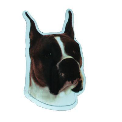 Vinyl Dog Magnet with Boxer Small