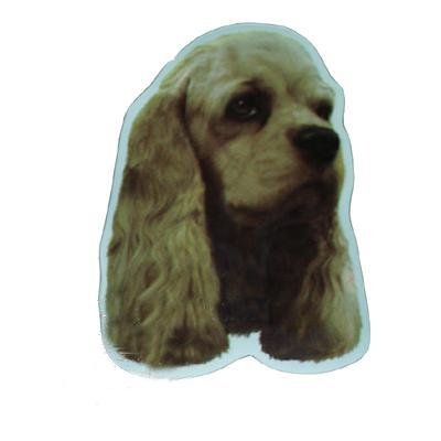 Vinyl Dog Magnet with Cocker Spaniel Small