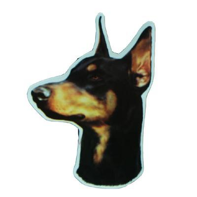 Vinyl Dog Magnet with Doberman Small