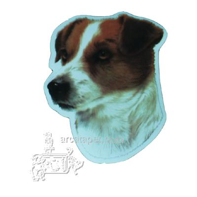 Vinyl Dog Magnet with Jack Russell Terrier Small