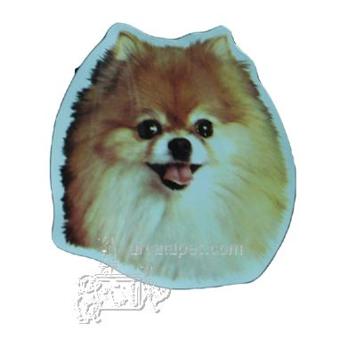 Vinyl Dog Magnet with Pomeranian Small