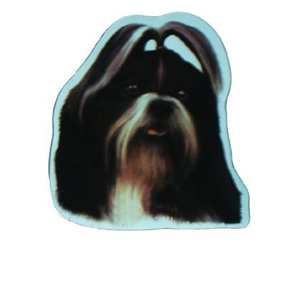 Vinyl Dog Magnet with Shih Tzu Small