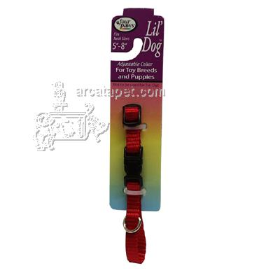 Red Collar Adjustable Lil' Dog for Toy Breeds