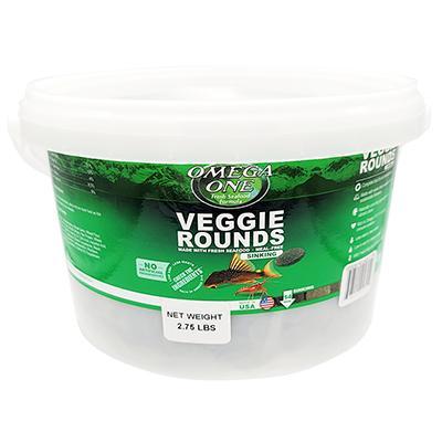 Omega One Veggie Rounds Fish Food 2.75 lb Bulk Economy Size