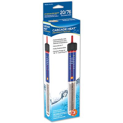 Heater Submersible 8 inch 100 Watt for 20 Gallon Aquarium