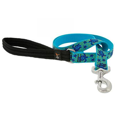 Lupine Nylon Dog Leash 4-foot x 1-inch Turtle Reef