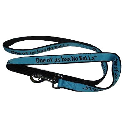 Embroidered Dog Leash 4-ft x1-in One of us has No Balls