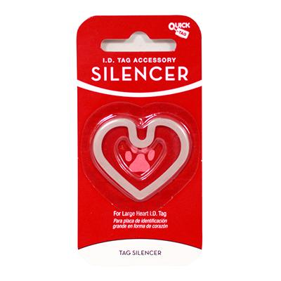 Heart ID Tag Silencer Large Click for larger image