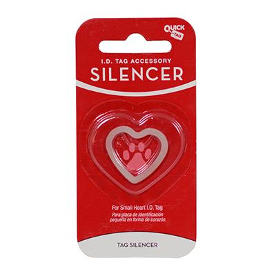 Dog Tag Silencer Heart Sm
