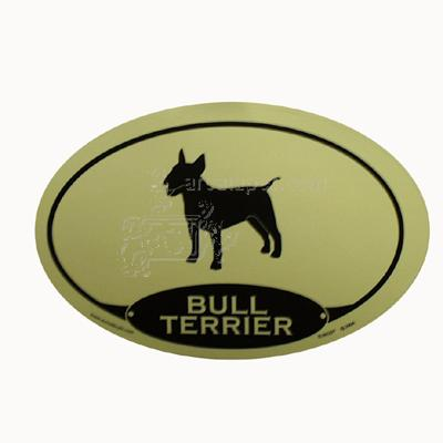 Euro Style Oval Dog Decal Bull Terrier