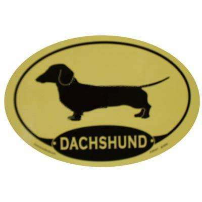Euro Style Oval Dog Decal Dachshund