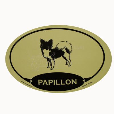 Euro Style Oval Dog Decal Papillon Click for larger image
