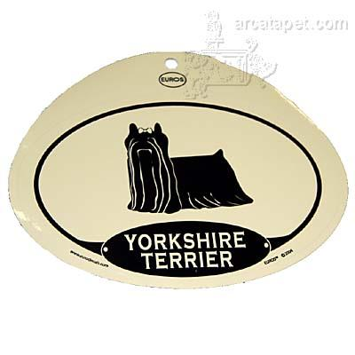 Euro Style Oval Dog Decal Yorkshire Terrier