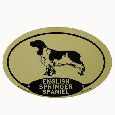 Euro Style Oval Dog Decal English Springer Spaniel Click for larger image