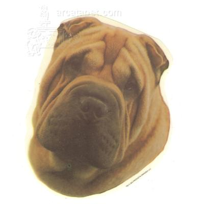 Double Sided Dog Decal Shar Pei