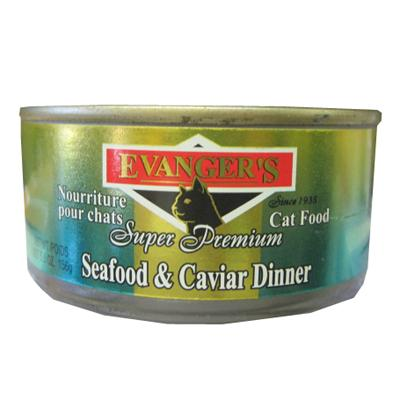 Evanger's Seafood & Caviar Dinner Canned Cat Food 5 oz