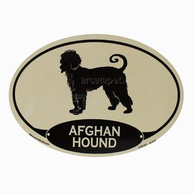 Euro Style Oval Dog Decal Aghan Hound