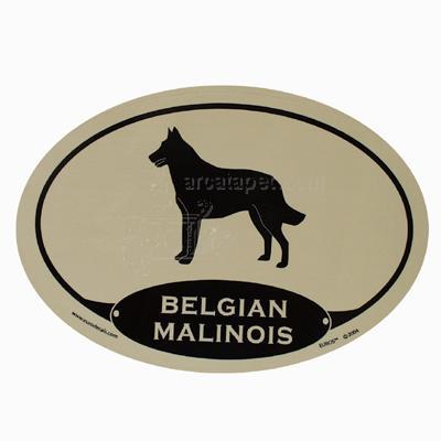 Euro Style Oval Dog Decal Belgian Malinois