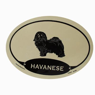 Euro Style Oval Dog Decal Havanese
