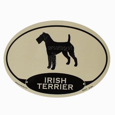Euro Style Oval Dog Decal Irish Terrier