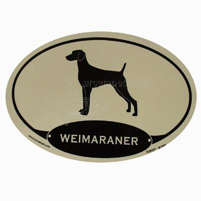 Euro Style Oval Dog Decal Weimaraner