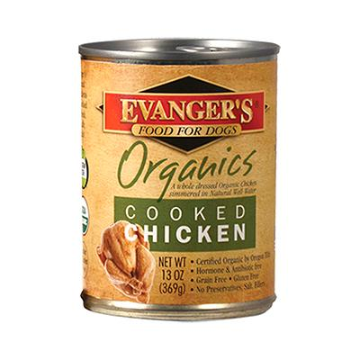 Evanger's 100% Organic Chicken Canned Dog Food 13