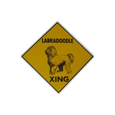 Sign Labradoodle Xing 12 x 12 inch Aluminum Click for larger image