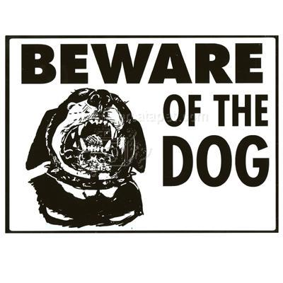 Sign Beware of the Dog Rottweiller 12 x 9 inch Aluminum Click for larger image