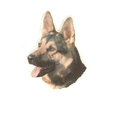 Double Sided Dog Decal German Shepherd Click for larger image
