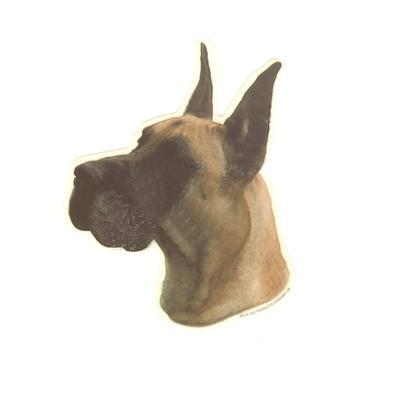 Double Sided Dog Decal Great Dane