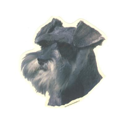 Double Sided Dog Decal Schnauzer Click for larger image