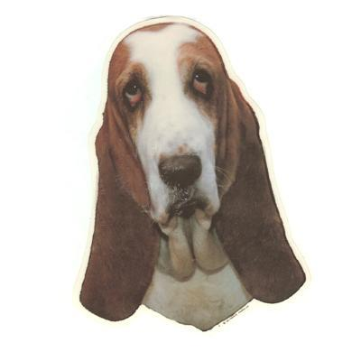 Double Sided Dog Decal Basset Hound