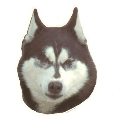 Double Sided Dog Decal Alaskan Malamute Click for larger image
