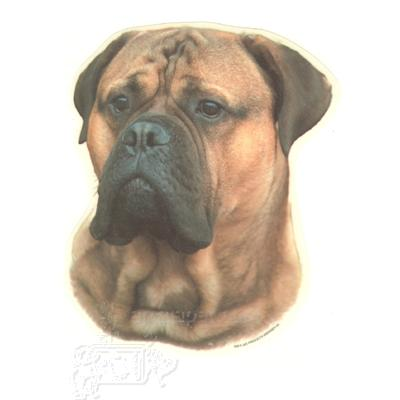 Double Sided Dog Decal Bullmastiff
