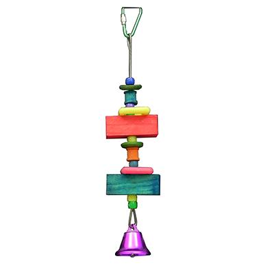 Bird Brainers Wood Beads with Bell Bird Toy