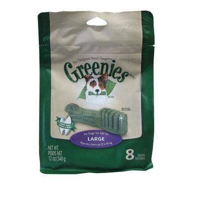Greenies Large Size Dog Dental Treat 8 Pack Click for larger image