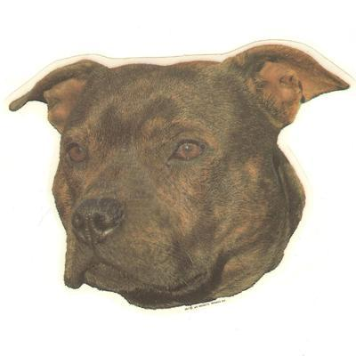 Double Sided Dog Decal Staffordshire Bull Terrier