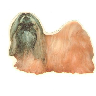 Double Sided Dog Decal Shih Tzu