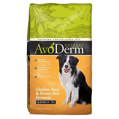 AvoDerm Natural Chicken & Rice Dog Food 4.4 lb Click for larger image