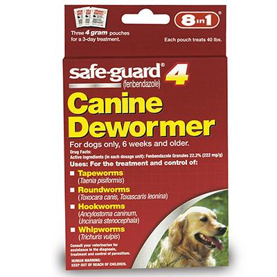 Safe-Guard Canine Dewormer 4 Gram 3 Pack
