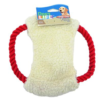 Fleece N Rope Frisbee Dog Toy