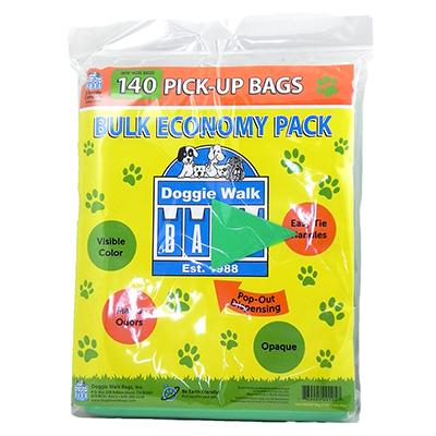 Doggie Walk Bulk Economy Pack 140 Dog Waste Bags