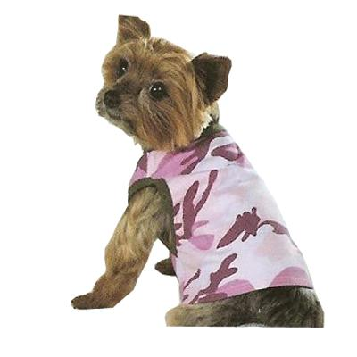 Dog Tank Top Camo Pink/Green Medium