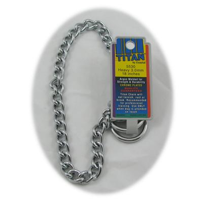Coastal Titan Chrome Steel Dog Choke Chain Heavy 18 inch